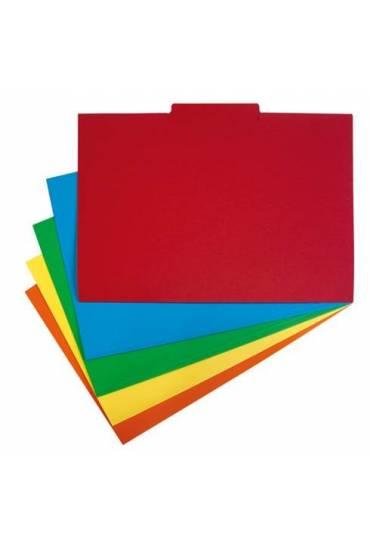 Subcarpetas pestañas Central A4 Rojas 50 unidades