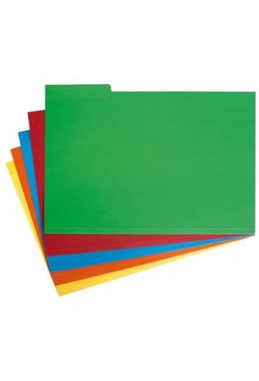Subcarpetas pestañas Derecha Lateral A4 Verdes 50