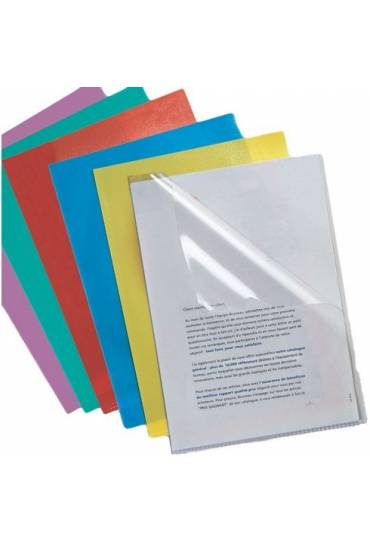 Dossiers folio Esselte PVC 180mc transparente 100