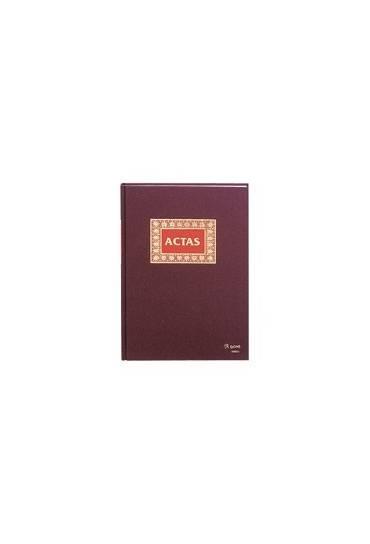 Libro actas forrado 100h folio natural