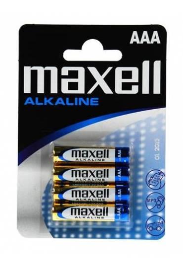 Pack 4 pilas alcalinas maxell LR 03