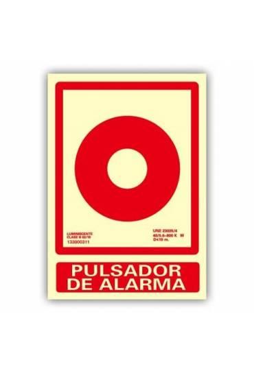 """Señal """"Pulsador Alarma"""" 21x30 cm"""