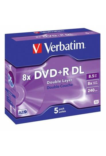PACK 5 DVD-R DOBLE CARA VERBATIM