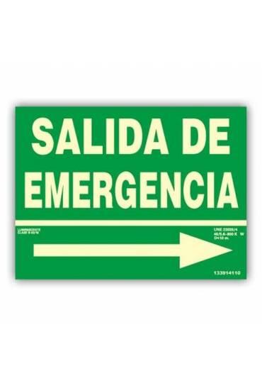"""Señal """" Salida de Emergencia"""" con Flecha Dcha  2"""