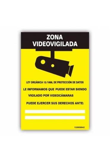 "Señal "" Zona Videovigilada "" PVC 21x30cm"