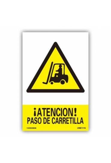 """Señal """" Atención Paso de Carretilla """" PVC 21x30cm"""