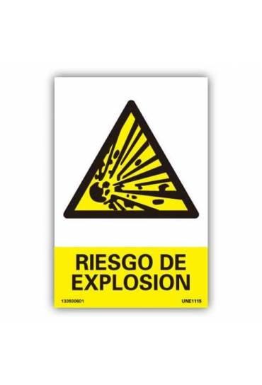 """Señal """" Peligro de Explosión """" PVC 21x30"""