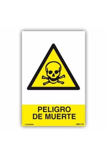 "Señal "" Peligro de Muerte "" PVC 21x30 cm"