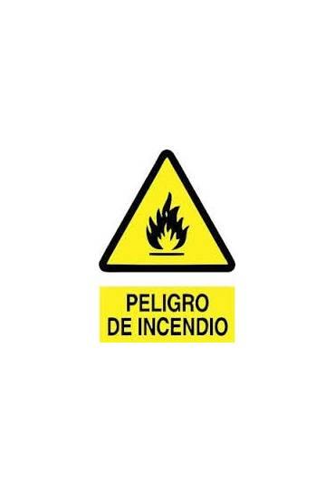 "Señal "" Peligro de Incendio "" PVC 21x30 cm"