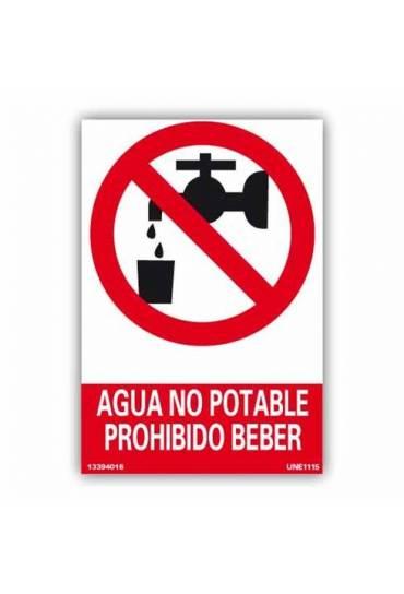 """Señal """"Agua No Potable"""" PVC 21x30cm"""