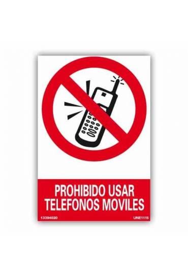 "Señal ""Prohibido Usar Telefonos Móviles"" PVC 21x30"