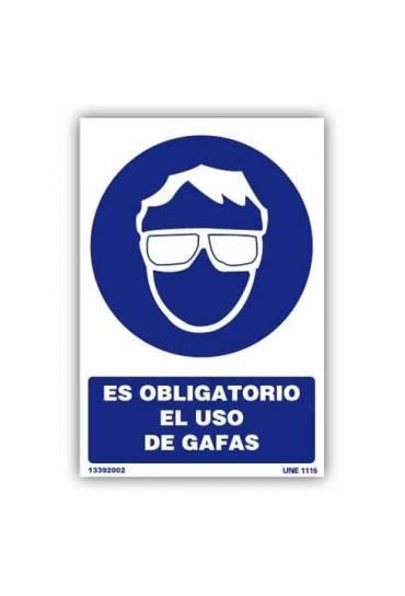 """Señal """" Es Obligatorio el Uso de Gafas """" PVC 21x30"""