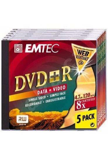 DVD+R 8x Emtec pack 5 unidades