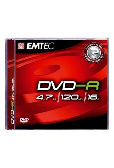 Pack 5 DVD-R 4,7 Gb 8x Emtec