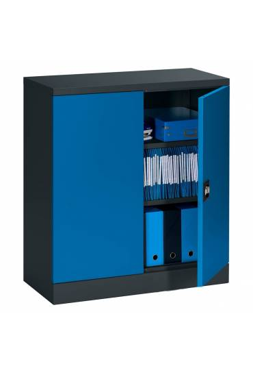 Armario metalico union altura 100 antracita-azul
