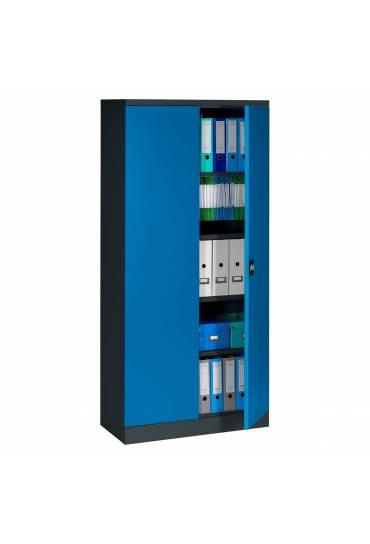 Armario metalico Union alto 198 antracita-azul