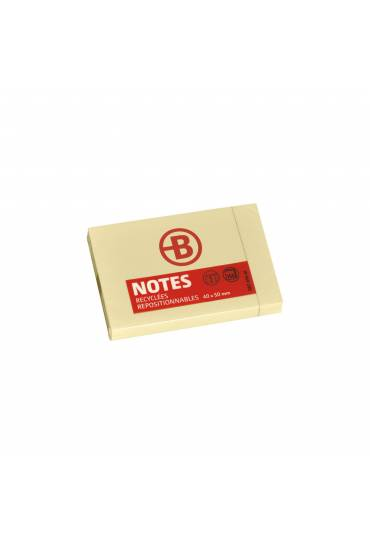 Bloc notas adhesivas recicladas 38x51 JMB 12 unds