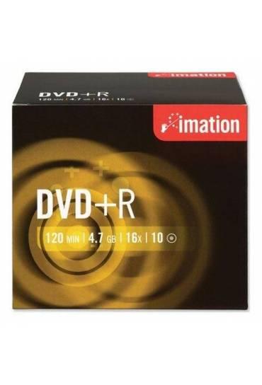 Caja 10 dvd+r imation
