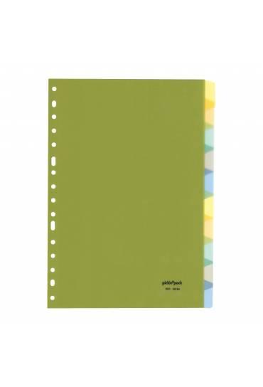 Separador PP folio 10 pestañas colores