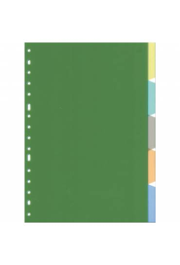 Separadores PP Translucidos Folio 5 pestañas