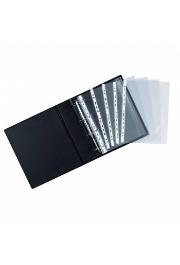Fundas pvc transparente folio multitaladro 50 unds