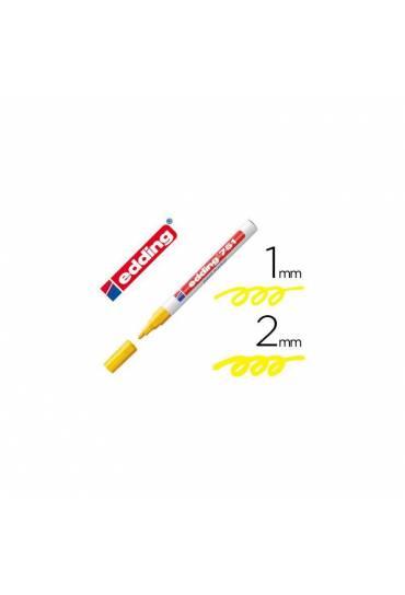 Marcador permanente Edding 751 amarillo