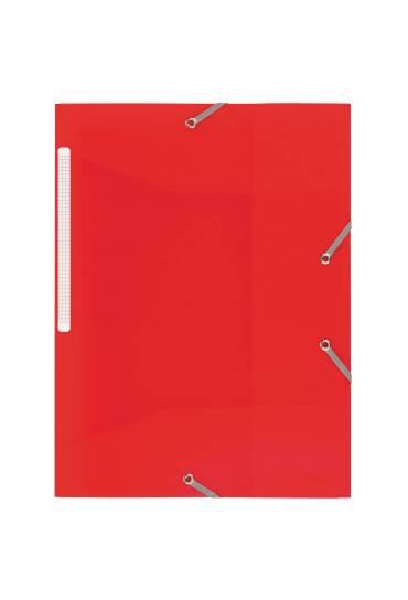 Carpeta 3 solapas polipropileno Roja