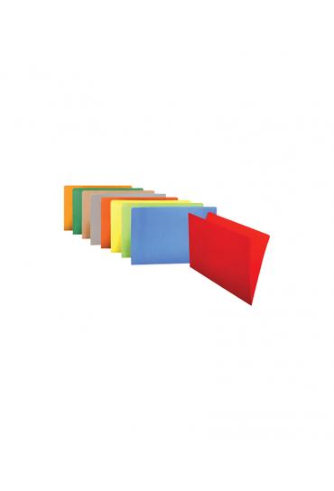 Subcarpetas 250gr folio rojo  50 unidades