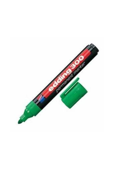 Marcador Edding 300 punta ojiva verde