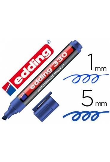 Marcador Edding 330 punta bisel azul