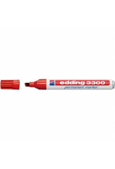 Marcador Edding 3300 punta biselada rojo