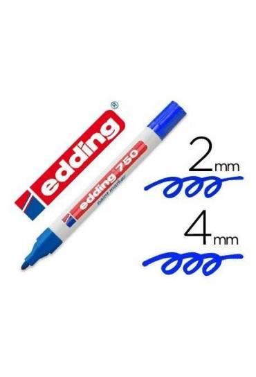 Marcador permanente Edding 750 azul