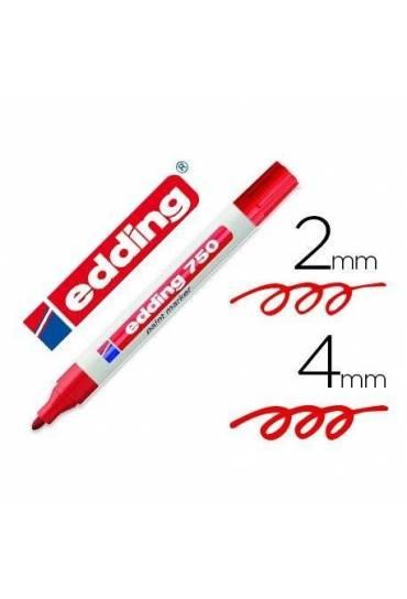 Marcador permanente Edding 750 rojo