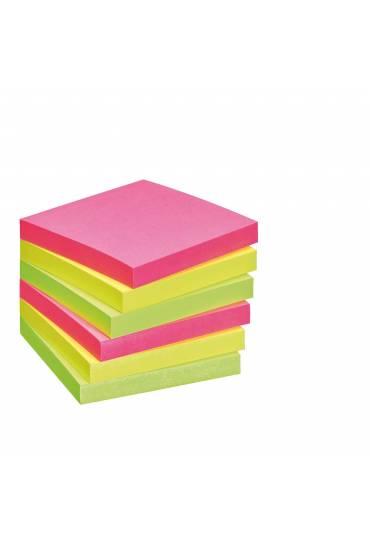 Bloc notas adhesivas 75x75 neon JMB 6 unds