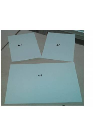 Caja papel 2500 hojas 90 grms pleca a la mitad