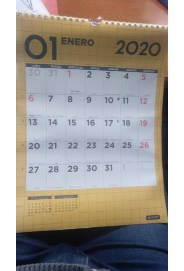Calendario pared 30x42  cm senfort cuadricula