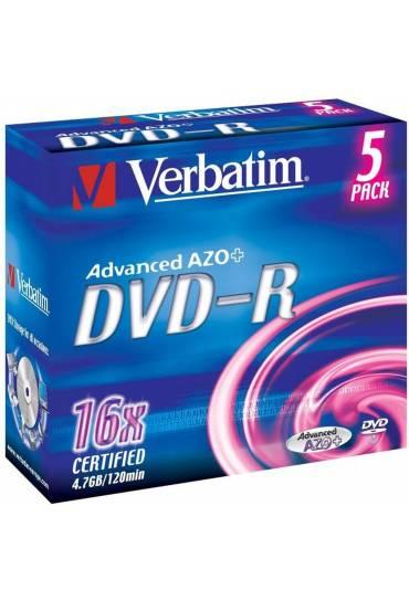 Pack 5 Dvd-Rw 4X  4.7Gb 120min.verbatim