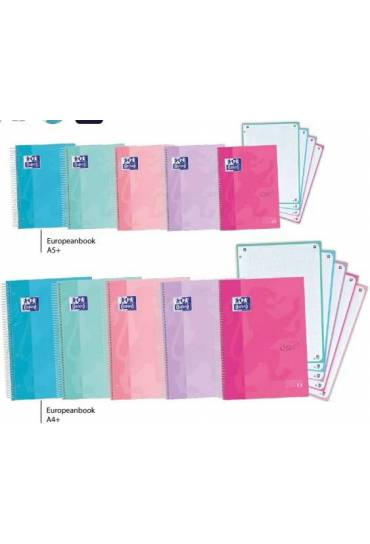 Cuaderno Oxford Touch pastel A5 120h 5x5 surtidos