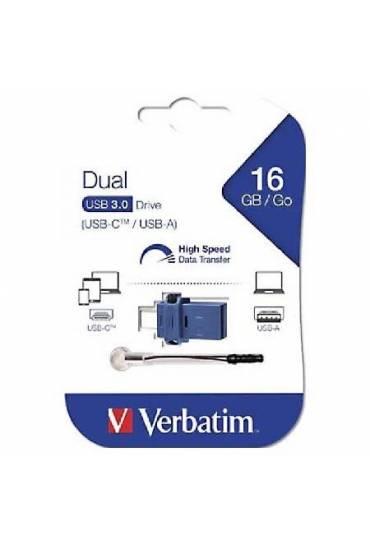 Memoria USB-C  USB-A 3.0 16 gb Verbatin