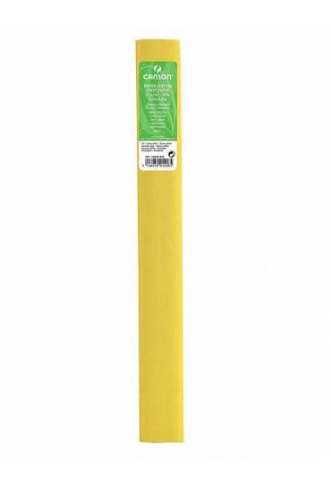 Papel crespon canson 50x250 amarillo paja 1408