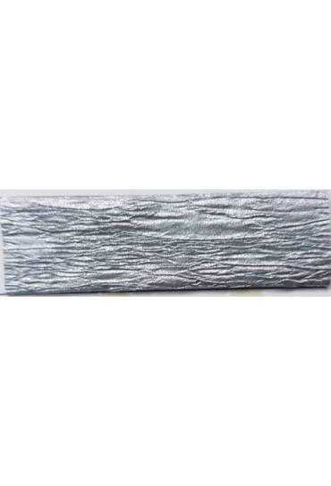 Papel crespon Canson  50x250 metalizado plata 24