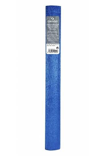 Papel crespon Canson  50x250 azul metalizado