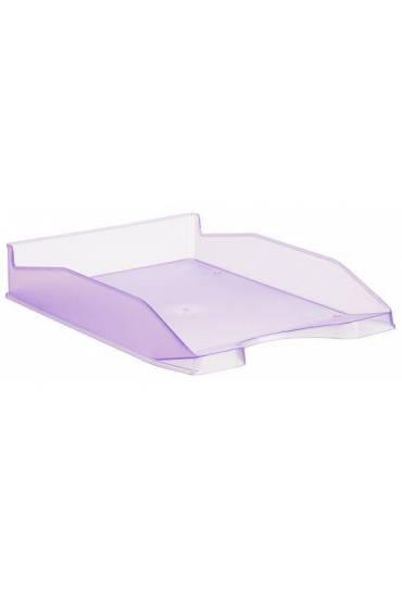 Bandeja portadocumentos translucida 742 violeta