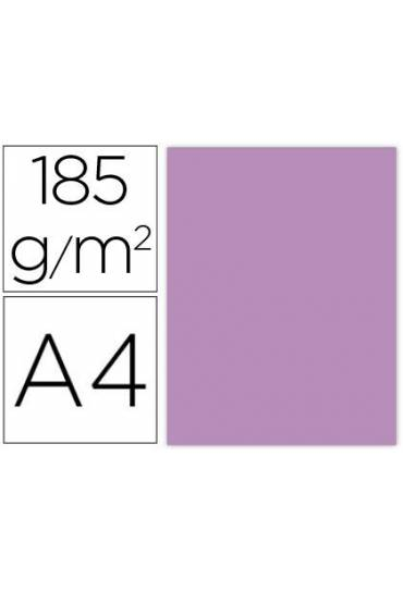 Cartulina A4 Iris 185g  Malva 50 unds
