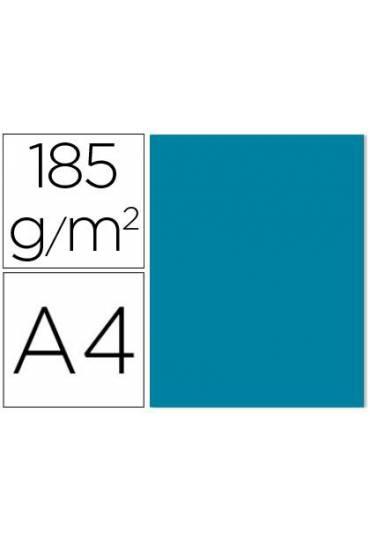 Cartulina A4 Iris 185g  azul caribe 50 unds