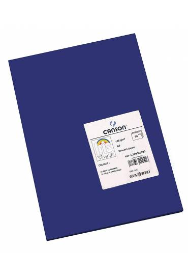 Cartulina A4 Iris 185g  azul ultramar 50 unds