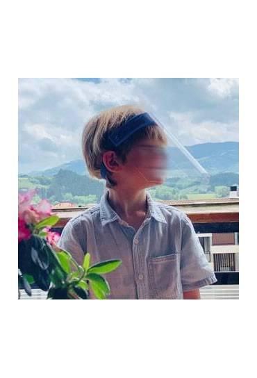 Mascara pantalla proteccion facial niños