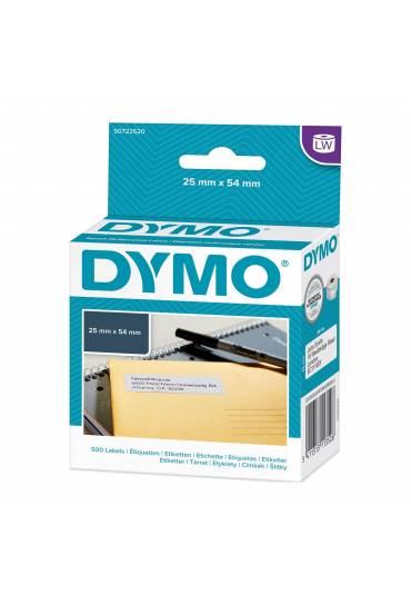 Rollo 500 Etiquetas Dymo  25 x 54mm lablewritter