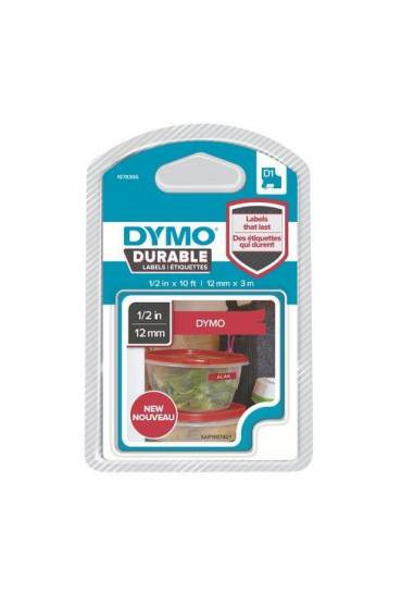 Cinta Dymo D1 12mmx3m durable Rojo 1978366