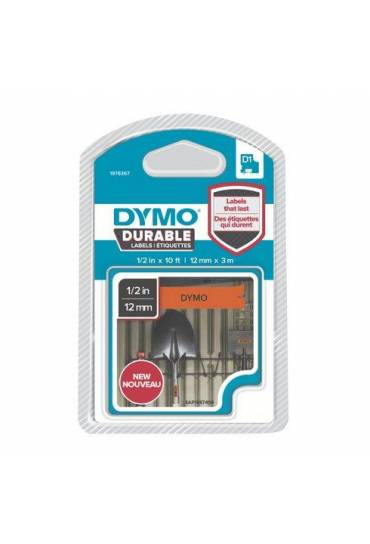 Cinta Dymo D1 12mmx3m durable naranja 1978367